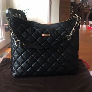Kate Spade Hobo Black with pebble leather